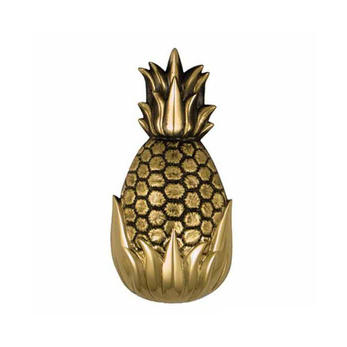 The best seller hospitality pineapple was designed by Michael Healy, an accomplished Rhode Island artisan known for his truly unique door knockers. The pineapple is a traditional symbol of abundant hospitality, making it an ideal design for your home's front door. This pineapple has been scaled down from Michael's original door knocker to create a trendy gift item. It comes in Michael Healy's stylish gift packaging perfect for everyone.