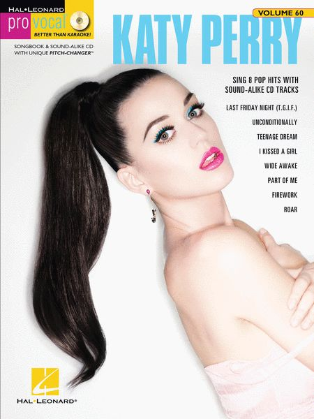 Katy Perry Pro Vocal Women's Edition Piano/Keyboard Book and CD