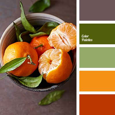 """""""dusty"""" brown, brown color, color matching, dark green color, designer palettes, green shades, lime color, olive shades, orange color, orange shades, palettes for designers."""