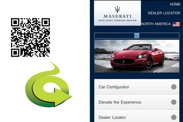 Maserati uses customized print ad QR codes to allow consumers to build their car