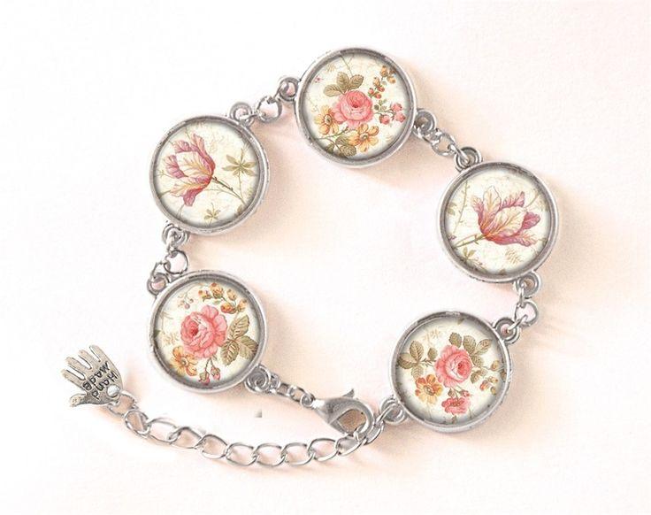 Bracelet RETRO ROSES, RETRO Jewellery, 0509BOS from EgginEgg by DaWanda.com