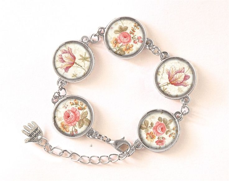 Bracelet RETRO ROSES, RETRO Jewellery, 0509BOS from EgginEgg by DaWanda.com