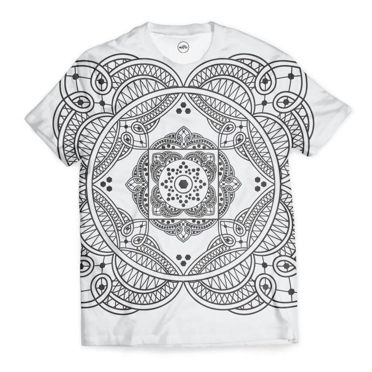 'elegant meditation mandala' T-Shirt by annalemos on miPic
