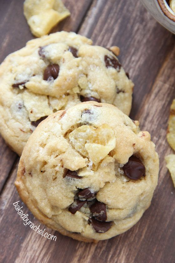 Potato Chip Cookies with Chocolate and Sea Salt Recipe from bakedbyrachel.com
