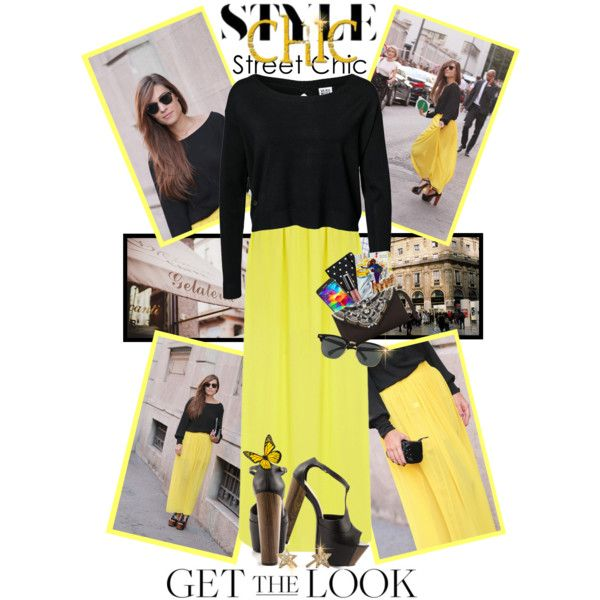How To Wear Yellow Maxi Skirt..Feminine and Fabulous Outfit Idea 2017 - Fashion Trends Ready To Wear For Plus Size, Curvy Women Over 20, 30, 40, 50