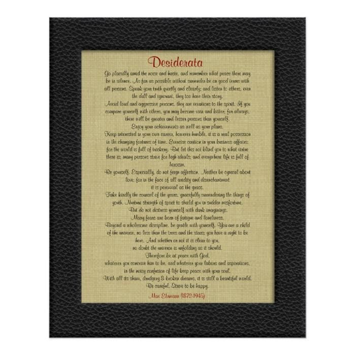 Customizable #Artistic #Beautiful #Brown #Character #Child #Contemporary #Desiderata #Design #Desired#Things #Leather#Look #Life #Linen#Look #Philosophy #Poem #Prose #Romantic #Texture#Like #Universe #Vintage #Wall #Wallpaper Desiderata on Linen leather look frame Poster available WorldWide on http://bit.ly/2eNaKCe
