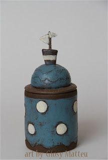 l'arte di Giosy: scatola contenitore    Un'altra scatola contenitore in ceramica, idea...