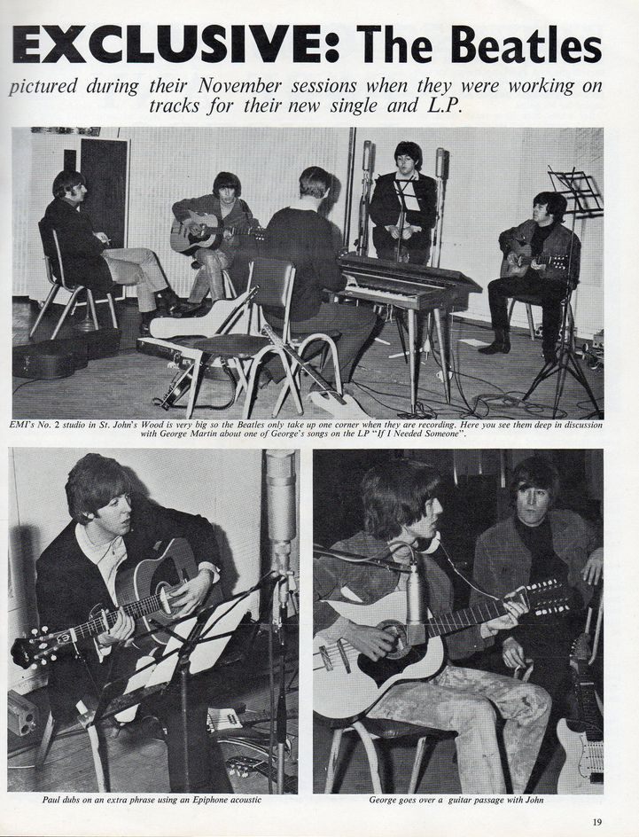 Nov 1965, Rubber Soul sessions at EMI Studio