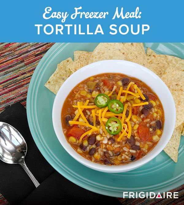 "This meatless ""one pot wonder"" from Thriving Home takes about 15 minutes to make, feeds a crowd, and only gets better with time. Top with some shredded cheese, jalapenos, crushed tortilla chips and a dollop of sour cream, then start your fiesta!"