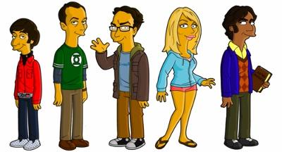 The Big Bang Theory Simpsons Style - The Big Bang Theory Wiki