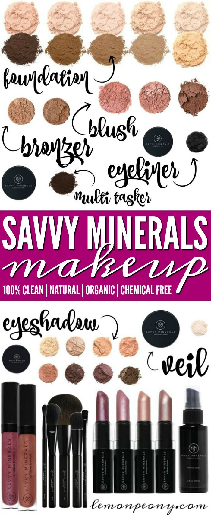 Savvy Minerals Natural Makeup! Chemical Free and Safe Makeup Products from Young Living!