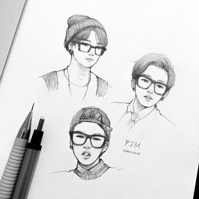 Jimin x glasses (aka my weakness) - #bts #jimin #btsfanart #jiminfanart #kpopfanart