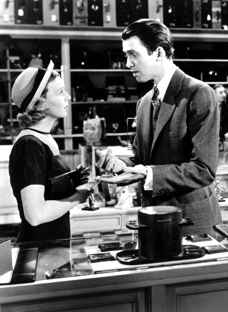 "Jimmy Stewart and Margaret Sullavan in ""The Shop Around the Corner"" (1940) Great movie! Love my Jimmy ;)"