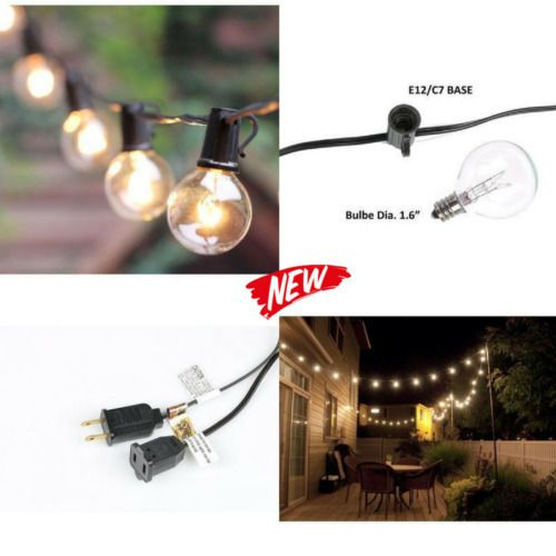 String Lights Outdoor G40 Vintage Backyard Patio Lights With 25 Clear Globe  Http://ift.tt/2hZbIKY #String #Lights #Outdoor #G40 #Vintage #Backyard # Patio ...