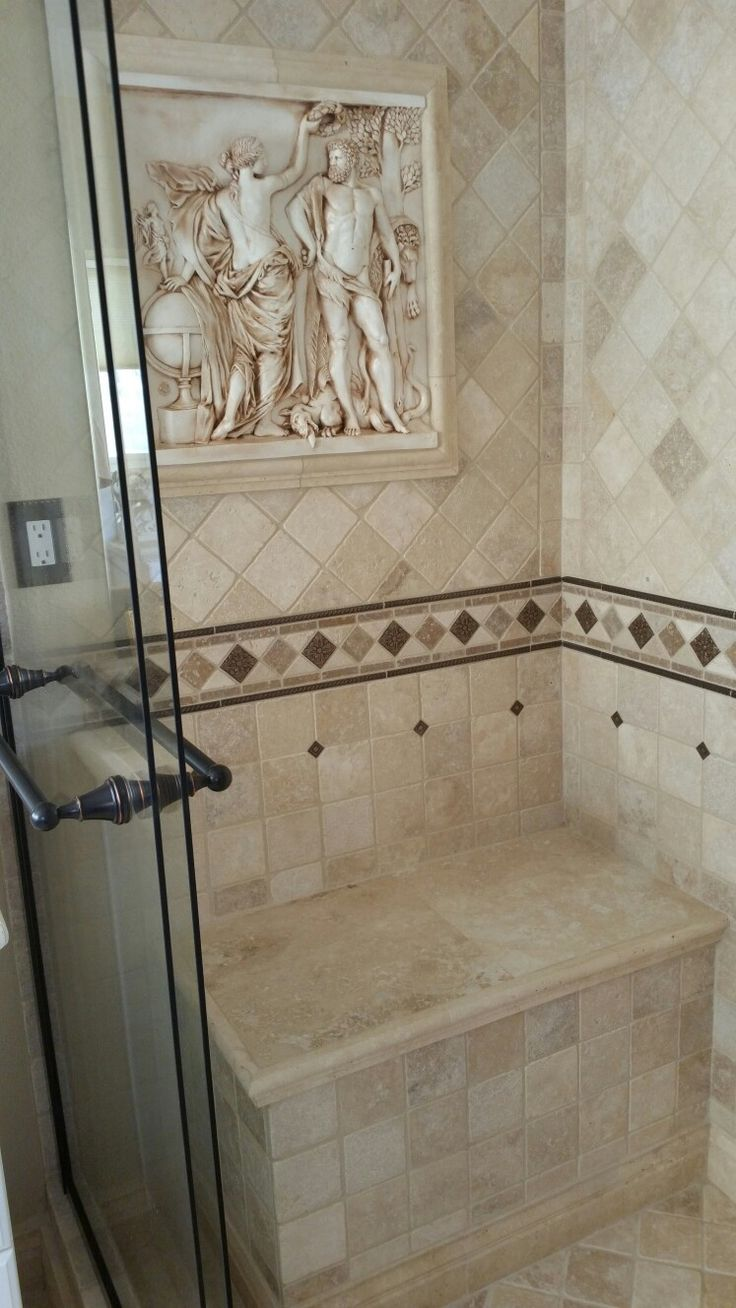 Best Travertine Tiles Bathroom with Roman Egyptian Theme Images