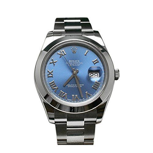 Rolex Datejust II 41 Blue Azzurro Roman Dial Steel Mens Watch 116300 *** This… - http://soheri.guugles.com/2018/01/25/rolex-datejust-ii-41-blue-azzurro-roman-dial-steel-mens-watch-116300-this/