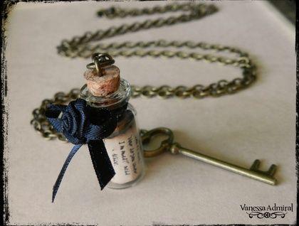 Wonderland Inspired Corked Vial Pendant Necklace