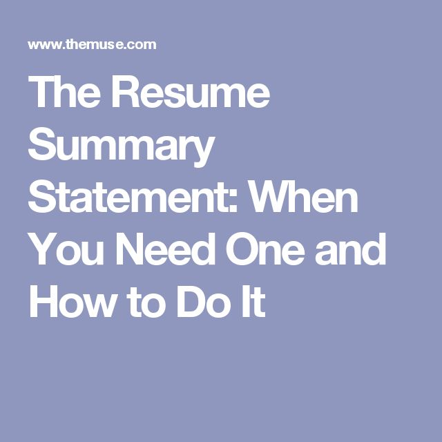 Best 25+ Resume summary ideas on Pinterest Executive summary - summary statement resume examples