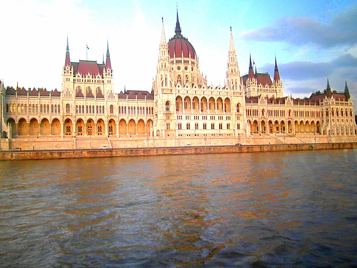 The Parliament, Budapest I took this picture with my blackberry playbook through a window