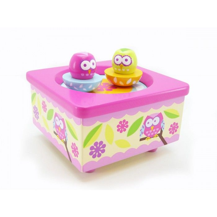 Wooden Owl Music Box - $20 These are gorgeous! Owl Figures will spin on the platform while music plays, measures 12cm x 12cm x 6.5cm high 3yrs +