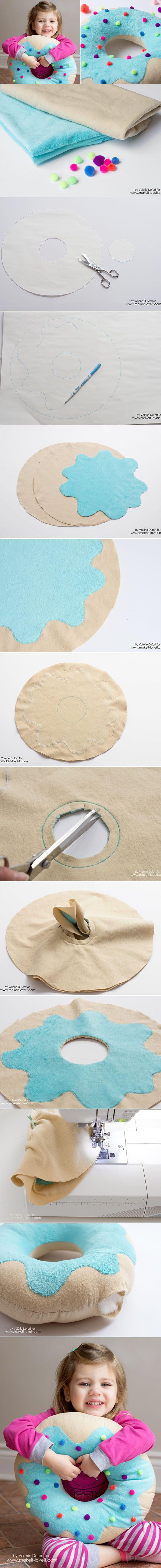 Descubra Como Fazer uma Almofada de Donut em Casa