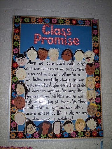 "Class Promise: if I had a ""real"" class I would do this at the beginning of the yr using the GLAD cooperative paragraph technique"