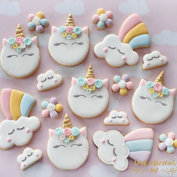 """175 Likes, 8 Comments - Alex (@sweetsavannacookies) on Instagram: """"More Unicorns to brighten your day! I know they make me happy! These beautiful pastel unicorns are…"""""""