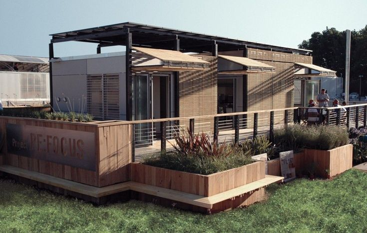 Accoya wood used for adjustable exterior screens around a house designed and constructed by the University of Florida team for the 2010 International Solar Decathlon competition