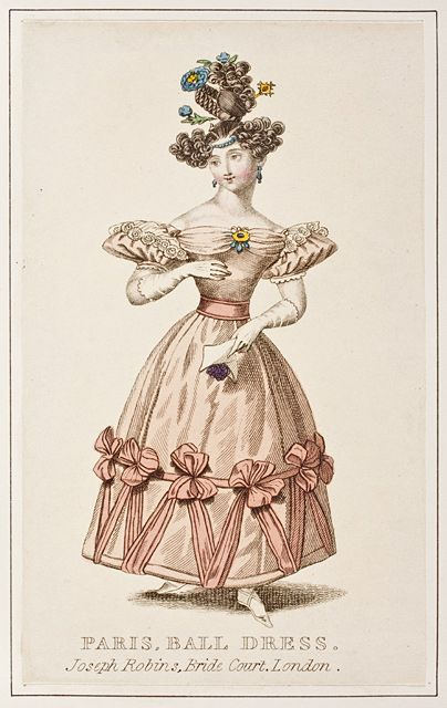 I need to make this wig and top knot.       6-11-11  Ballgown, ca 1830 United Kingdom, a London dressmaker