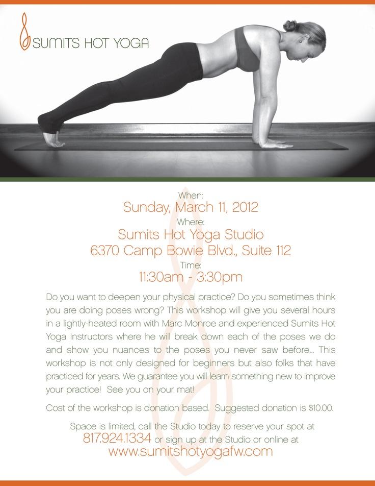 Sumits Hot Yoga Fort Worth eBlast announcing an alignment ...