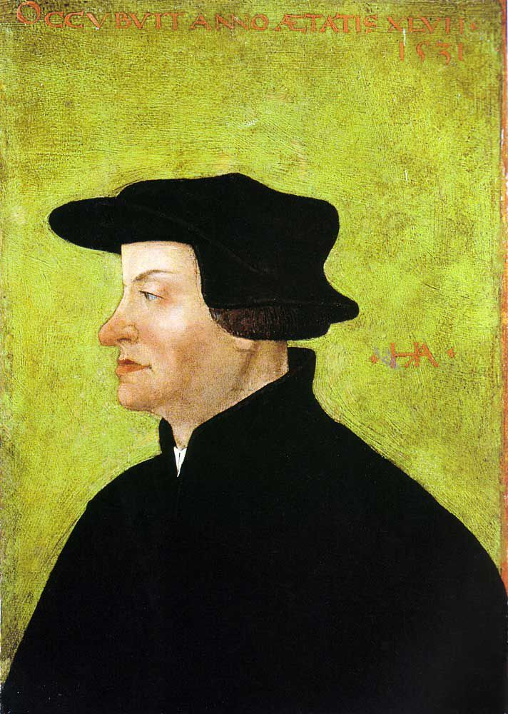 Ulrich Zwingli- was a leader of the Reformation in Switzerland