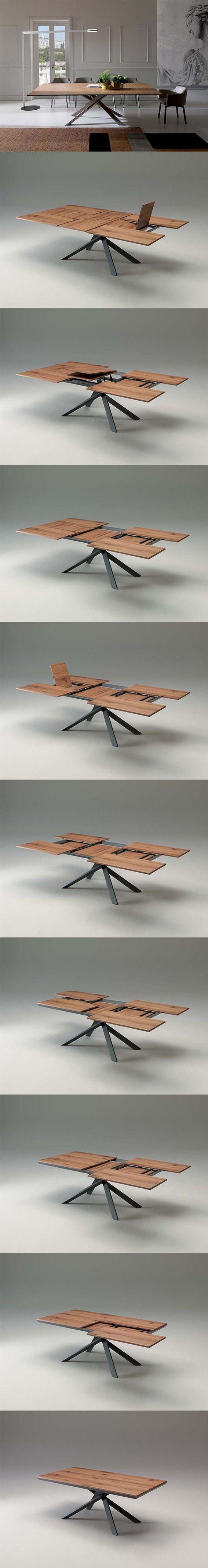 Il #tavolo perfetto per il tuo #Natale è 4x4 firmato @Ozzio L'innovativo tavolo 4x4 possiede un sistema d'apertura esclusivo, basato sullo scorrimento geometrico dei piani che consentono di passare da cm 100x200 (chiuso) ad un estensione di cm 138x254 aperto. Piano in vero #legno disponibile in diverse finiture. Scoprile tutte al link ➜ http://arredok.com/tavolo-allungabile-ozzio-4-x-4.html