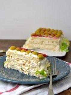 Pastel frío de pollo. Receta de aprovechamiento | Cuuking! Recetas de cocina