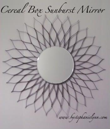 cereal box sunburst mirror