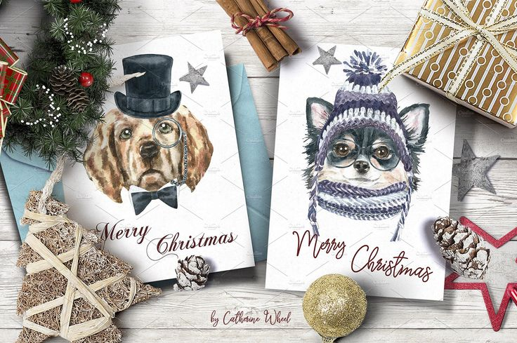 Dog Character Creator by CatherineWheel on @creativemarket watercolor dog animal illustration. Watercolor animal portrait clipart.Hand-painted watercolor dog set. Hipster dog, pet, animal, christmas, year of dog , 2018 dog, holiaday, diy, realistic, detailed, personalised