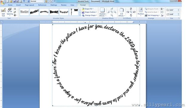 How to Print Text in a Circle Using WordArt in Microsoft Word