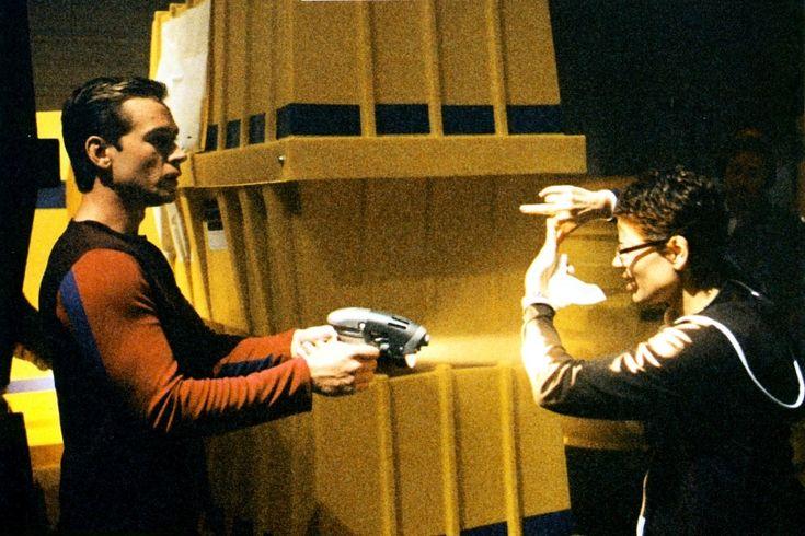 Roxann Dawson directs Connor Trineer in Enterprise