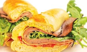 Groupon - $ 15 for a Sandwich Meal for Two with Chips and Soft Drinks (Up to $26.26 Value) in Downtown - Penn Quarter - Chinatown. Groupon deal price: $15