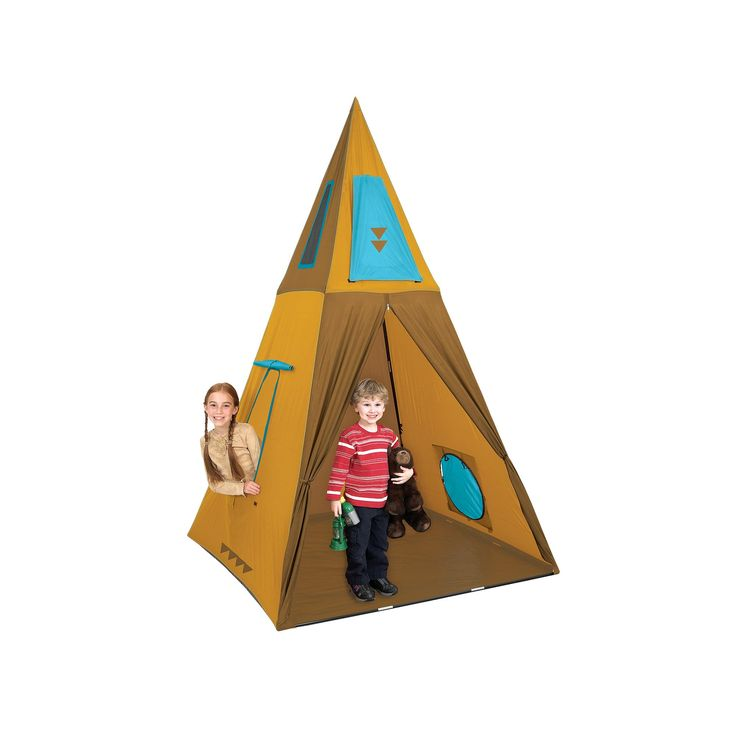 Pacific Play Tents Giant Teepee Play Tent, Multicolor