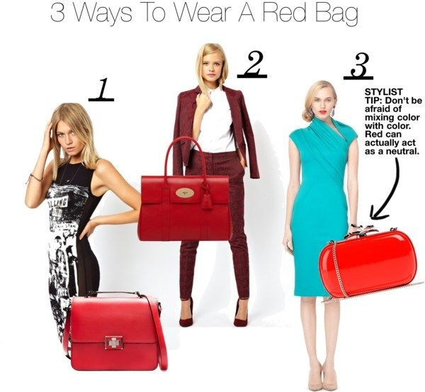 How to wear a red