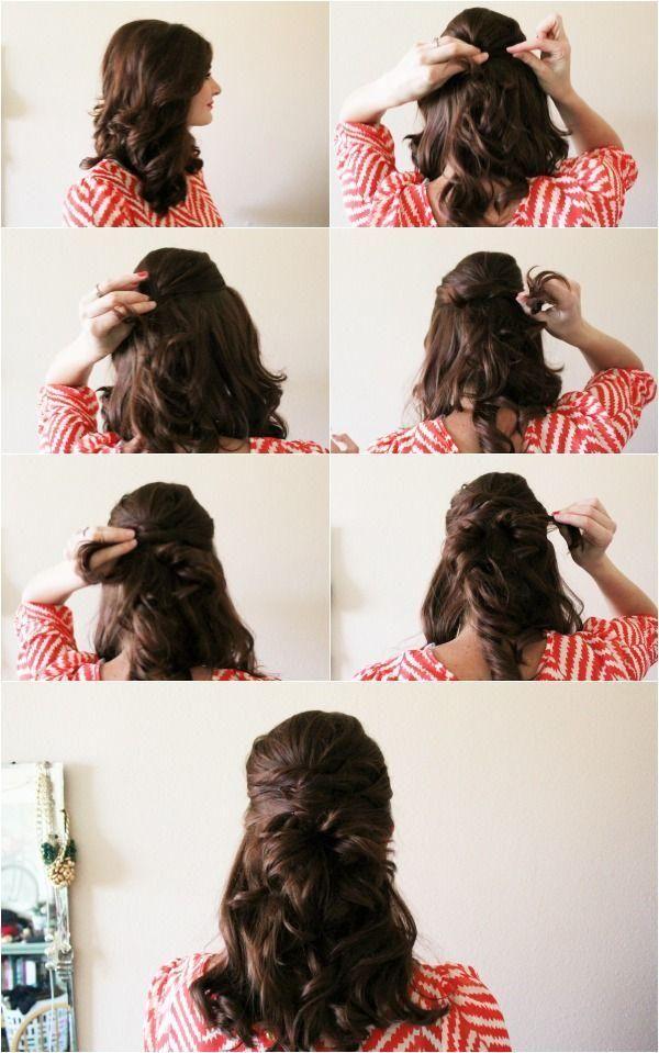 twisted half up hair