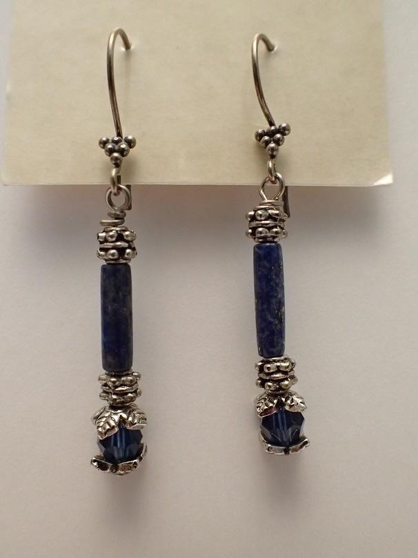 Lapis Luzuli Drop Earrings by Really Keen Jewelry