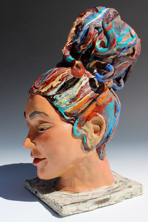 how to make hair on a clay sculpture