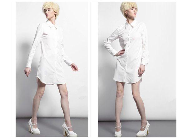 White shirt dress for women from BWG stuidos.