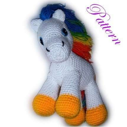 Free Crochet Horse Pattern, make it'd be cool to learn