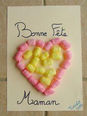 """Pour la Fête des Mères : cadre coeur en """"Playmaïs"""", avec instruction de couleur"""