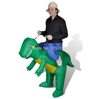 Hot Adult Halloween Party Costumes Walking With Inflatable Dinosaur Costumes Air Fan Blow Up Suits One Size For Person1.5m to 2m