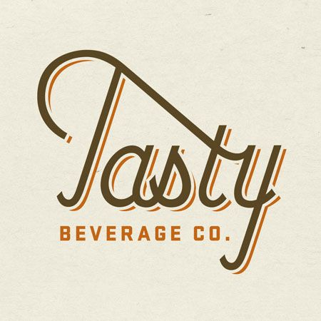 Tasty Beverage logo Designed by Jaime van Wart click on logo to see branding and collateral materials