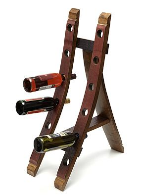 wine barrel converted to wine rack