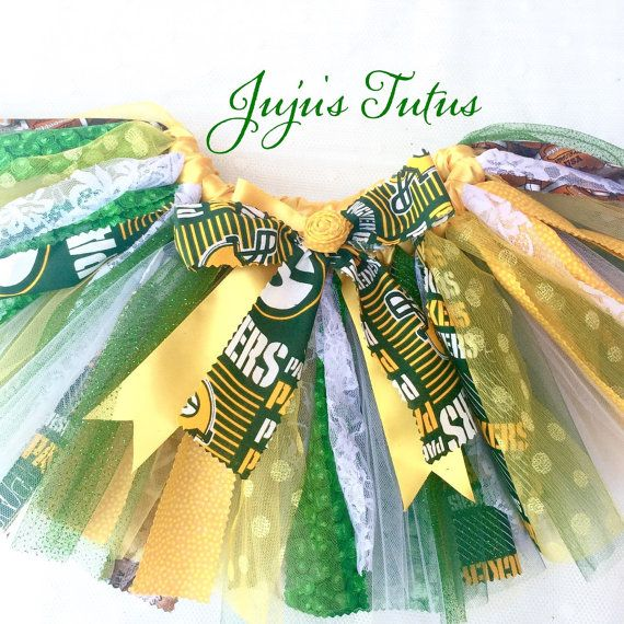 Green Bay Packers Team Spirit Inspired Tutu fabric by jujustutus